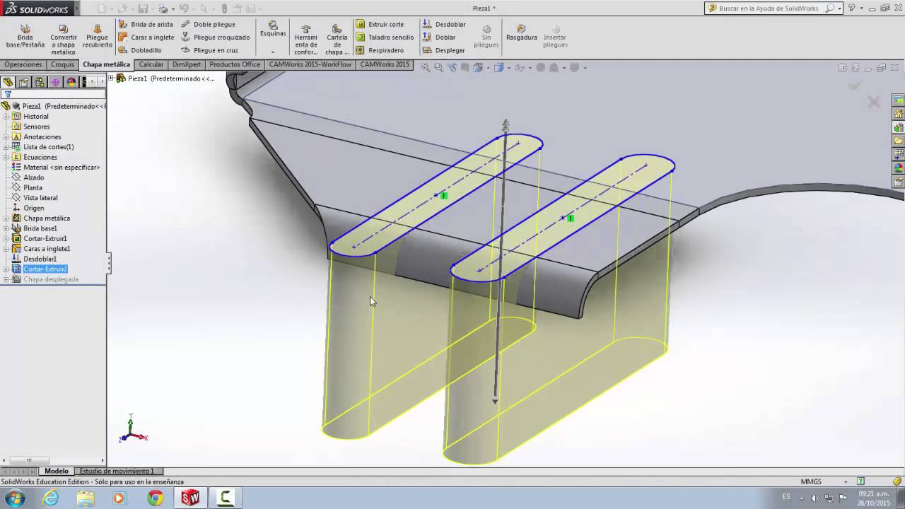 Chapa metalica y forming tool Solidworks - YouTube