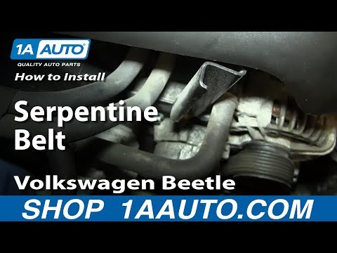 How to Replace Serpentine Belt 98-07 Volkswagen Beetle