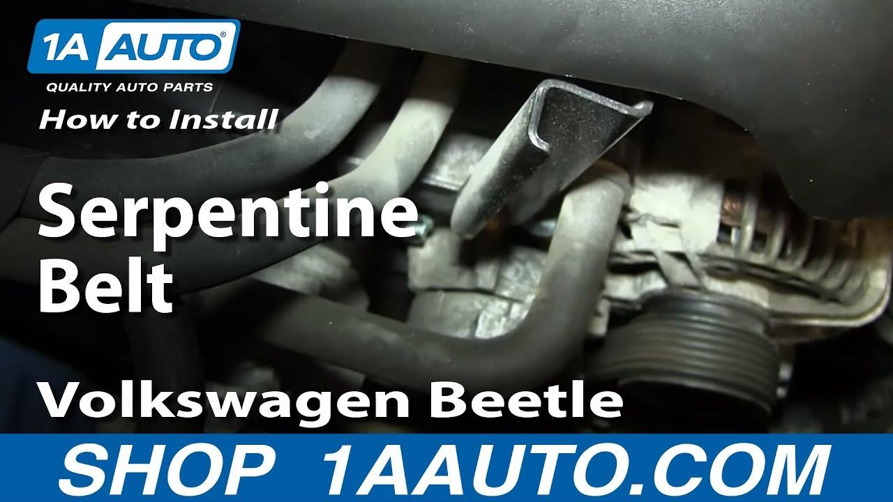 How To Replace Serpentine Belt 98 07 Volkswagen Beetle Youtube