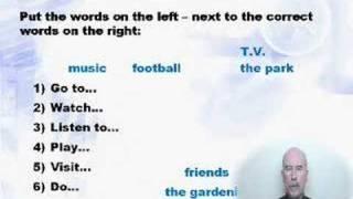 Grammar Pre Intermediate - Lesson6 Vocabulary, Verb Forms..