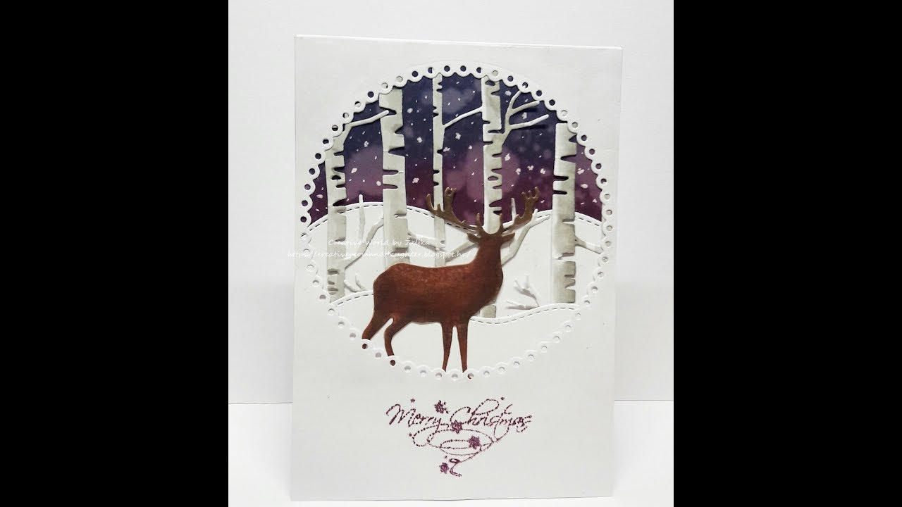 christmas card inspiration using dies small giveawayclosed - Christmas Card Closings