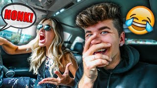 HONK AT ME PRANK ON GIRLFRIEND! *SHE FREAKED OUT*