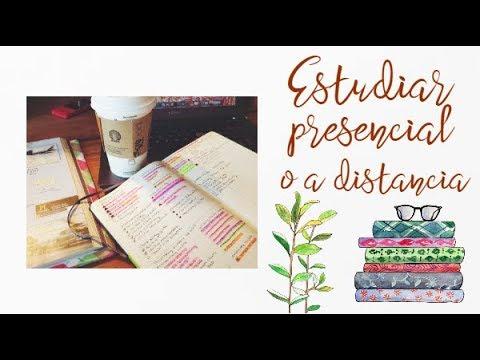 ¿Estudiar a distancia o presencial?