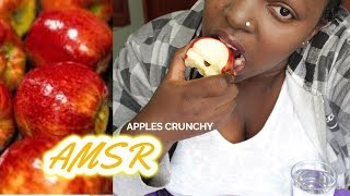 MY FIRST ASMR APPLE (CRUNCHY CHEWY EATING SOUNDS + LIGHT WHISPERS) KENYA