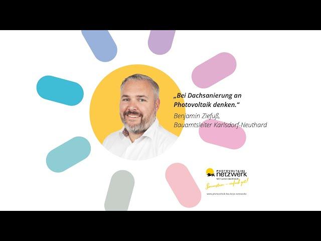 Photovoltaik Botschafter - Benjamin Ziefuss