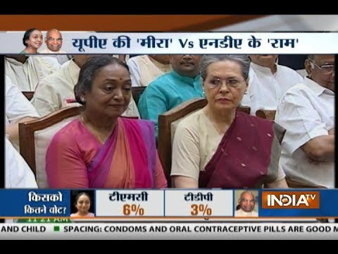 Opposition Presidential candidate Meira Kumar files her nomination