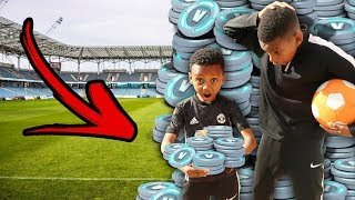 DONATING KID FORTNITE V-BUCKS! IF HE WINS THIS CHALLENGE