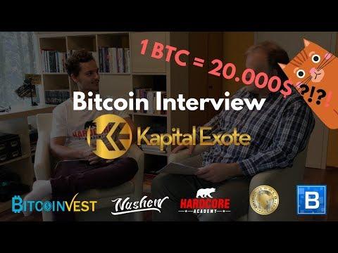 BTC 20.000$?! Kursprognose ?! Bitcoin Interview...Was ist die Bitcoin Expertenmeinung ?