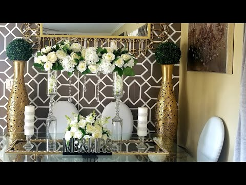 Dollar Tree DIY - Glam Wedding Centerpiece