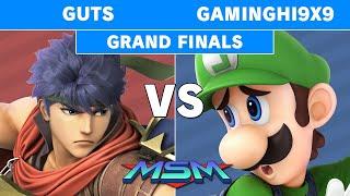 MSM Online 20 - GamingHi9x9 (Luigi) Vs Guts (Ike) Grand Finals - Smash Ultimate