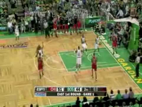 Derrick Rose first ever playoff game 36 points vs Boston Celtics