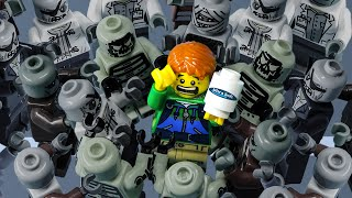 LEGO Land | Lego Zombie Pandemic Outbreak: Toilet Paper Panic Buying | Lego Stop Motion