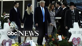 Trump greeted by protesters as he visits Pittsburgh synagogue