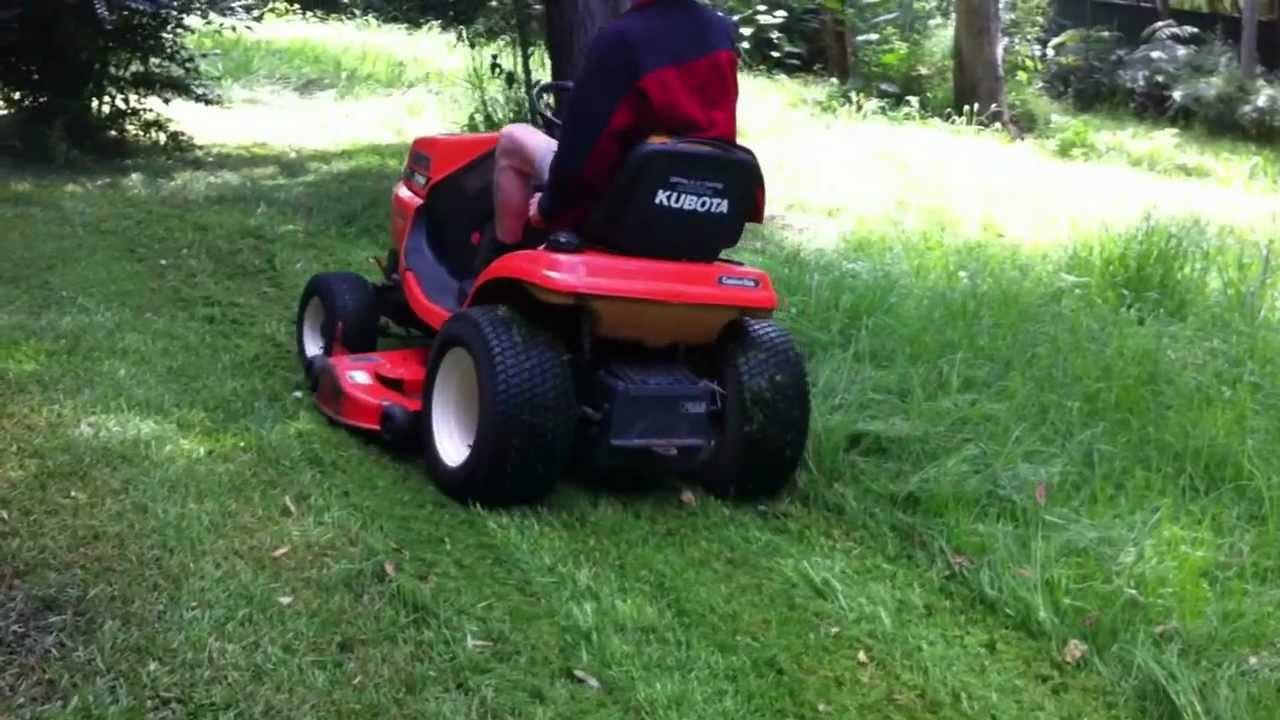 how to cut long wet grass