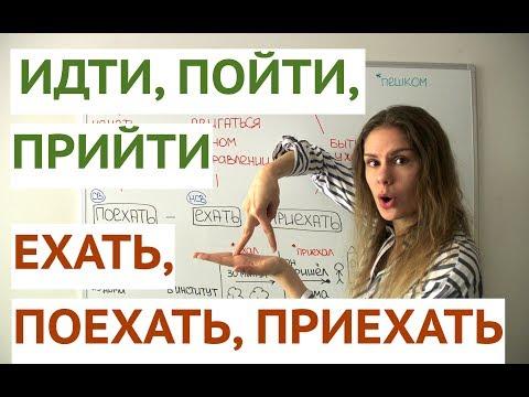 Урок 2. ИДТИ - ПОЙТИ - ПРИЙТИ и ЕХАТЬ - ПОЕХАТЬ - ПРИЕХАТЬ || Глаголы движения