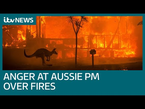 Australian PM heckled as he visits fire-ravaged town   ITV News