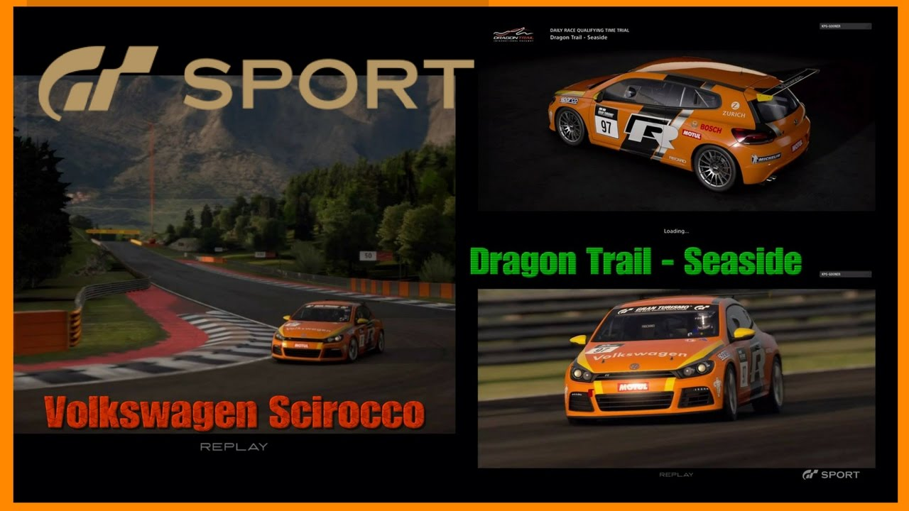 gt sport beta ps4 pro gameplay volkswagen scirocco dragon trail seaside youtube. Black Bedroom Furniture Sets. Home Design Ideas