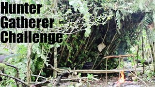 4 Day 4 Night Primitive Survival Challenge. Debris Shelter. ...