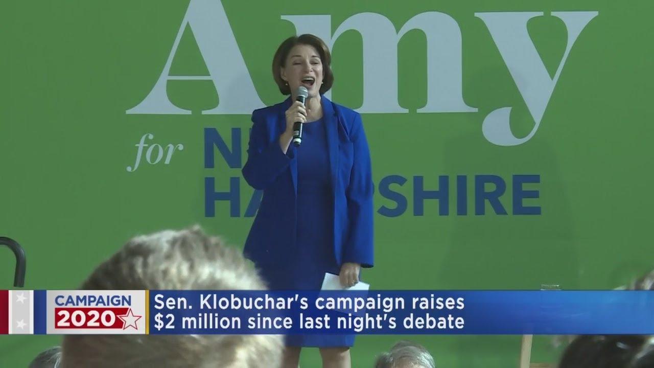 Amy Klobuchar raises over $2 million after debate, campaign says ...
