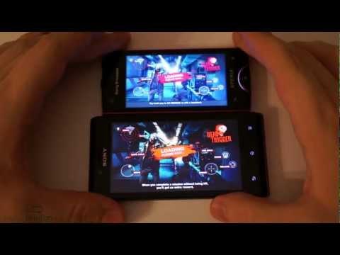 Sony Xperia J vs Xperia Ray: скорость работы, тесты, сравнение
