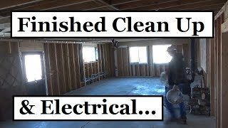 Finished Clean Up, Downstairs Electrical... (Cedar Wrecked Her Car)