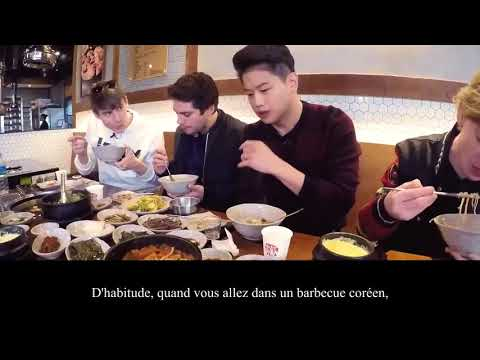 VOSTFRDylan O'Brien, Thomas Sangster & Ki Hong Lee : korean barbecue & soju~Maze Runner Death Cure