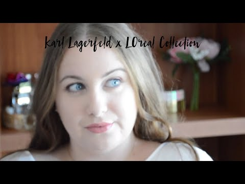 Karl Lagerfeld X L'Oreal - First Impressions, Swatches & Look