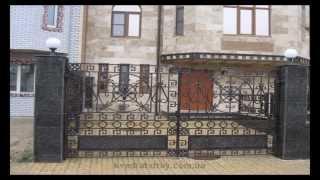 Кованые ворота распашные.(Кованые ворота распашные От компании Квадрат Строй. А так же металлоконструкции и другие изделия из метал..., 2014-01-26T16:18:22.000Z)