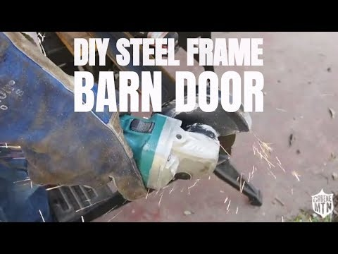 DIY steel frame barn door | Shed to Shop Part 5