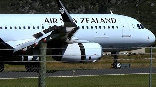 Air New Zealand A320-232 | Close-up Landing Queenstown Airport | ZK-OXL thumbnail