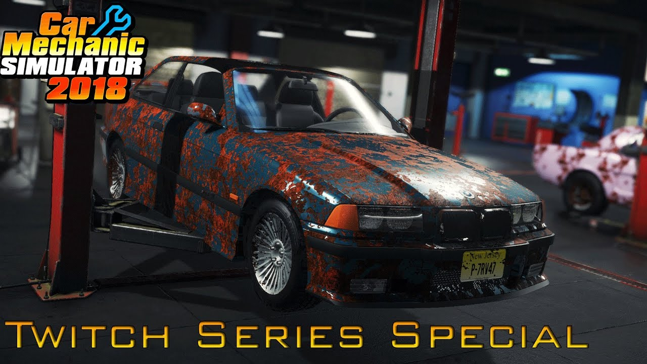 Bmw E36 M3 Huge Repair Car Mechanic Simulator 2018 Gameplay Twitch Series Special Youtube