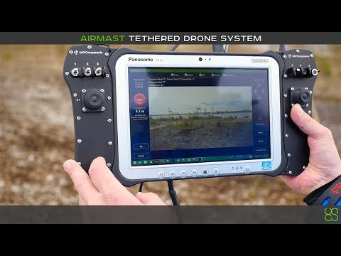 Tethered drone systems AirMast flight control demo