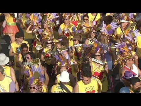 Brazil street party ahead of main Rio carnival celebration