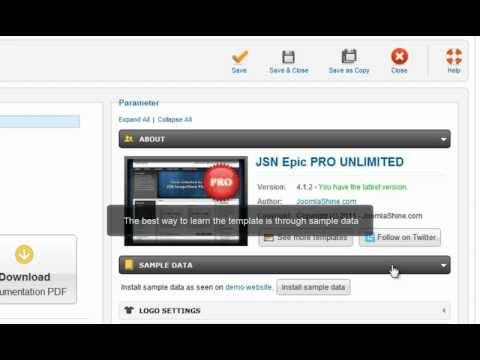 Joomla Templates Tutorials | JSN Epic Quick Start
