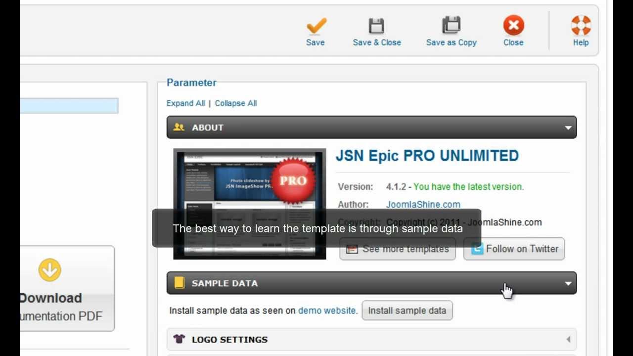 Joomla Templates Tutorials | JSN Epic Quick Start - YouTube