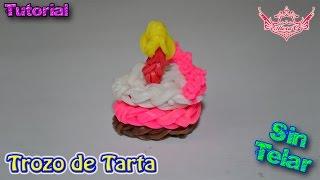 ♥ Tutorial: Trozo de Tarta (sin telar) ♥