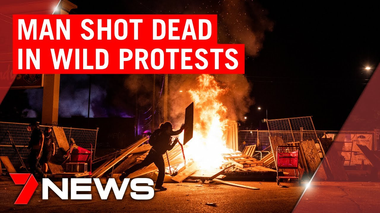 George Floyd death: Wild protests continue across the US | 7NEWS