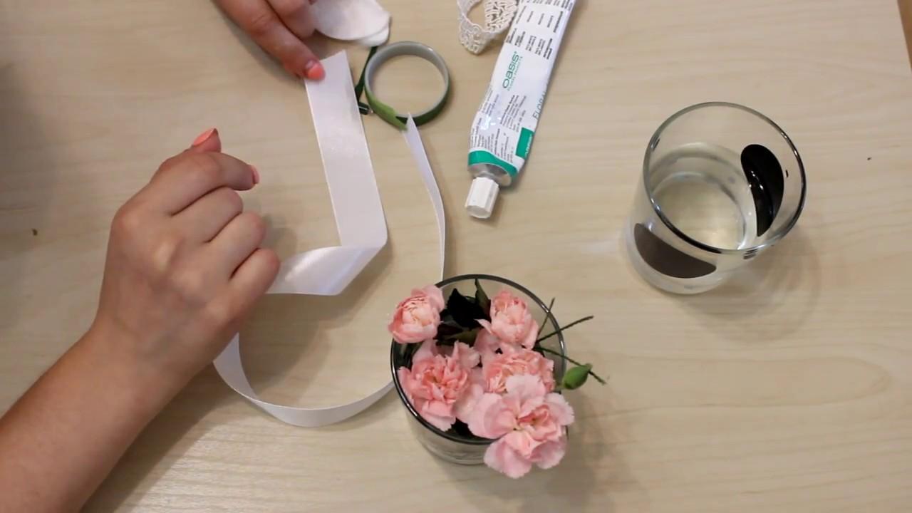 Бутоньерка как сделать из живых цветов