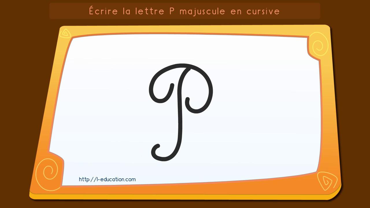 Crire l 39 alphabet apprendre crire la lettre p - Lettre alphabet majuscule ...