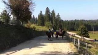 Tatiana à cheval