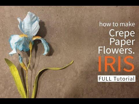 [how to make crepe paper flowers] IRIS [EASY&SIMPLE&FREE TUTORIAL]