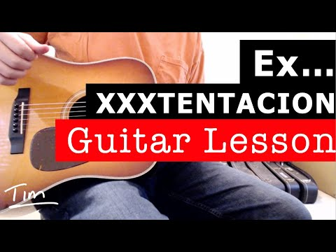XXXTENTACION Ex Bitch Guitar Lesson, Chords, and Tutorial thumbnail
