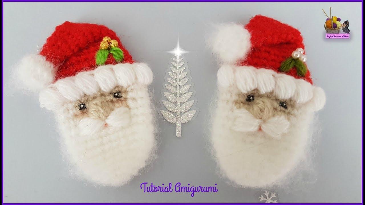 Tutorial amigurumi - Broche Papá Noel / Santa Claus - YouTube