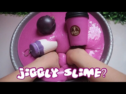 JIGGLY SLIME hmm ?THE BIG MAGIC MIXING - SLIME COLLECTION SUPER GLOSSY NO FLOAM UPDATE #4 thumbnail