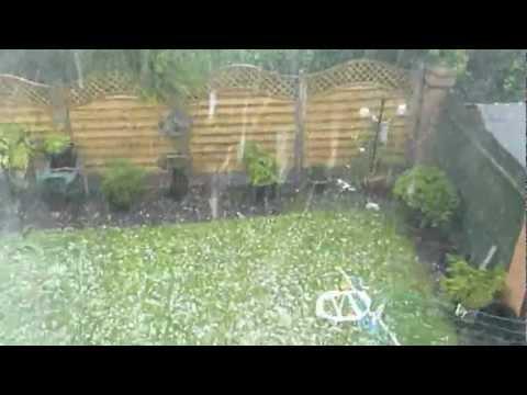 Hailstones In Thurmaston, Leicester