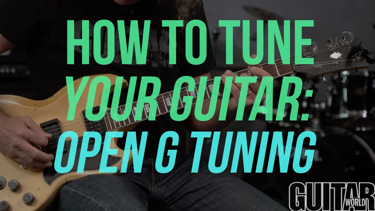 How To Tune Your Guitar To Open G Tuning Guitar Basics Youtube