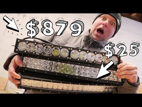 CHEAP vs. EXPENSIVE: 20' LED Light Bars (Unboxing)