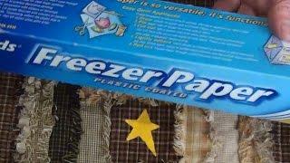 трафаретная роспись ткани с бумагой для заморозки Freezer paper