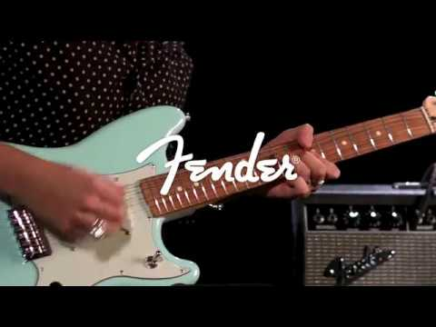 Fender Duo Sonic Electric Guitar, Pau Ferro, Surf Green | Gear4music demo