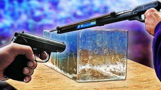 Что если в БАЛЛИСТИЧЕСКИЙ ГЕЛЬ выстрелить ГАРПУНОМ и ПНЕВМАТОМ